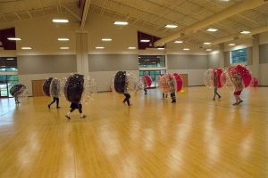 students having fun playing knockerball