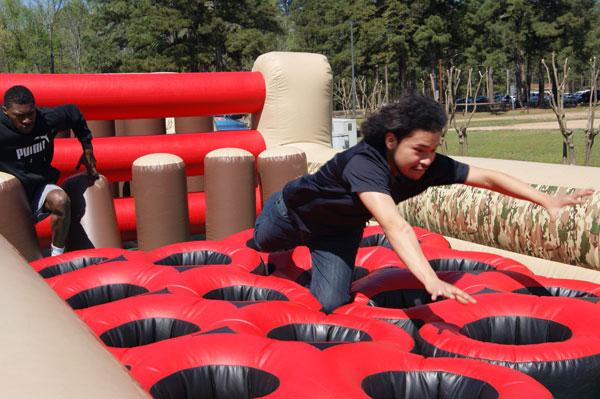 students having fun during Spring Fling activity