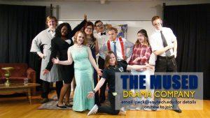 college drama club students