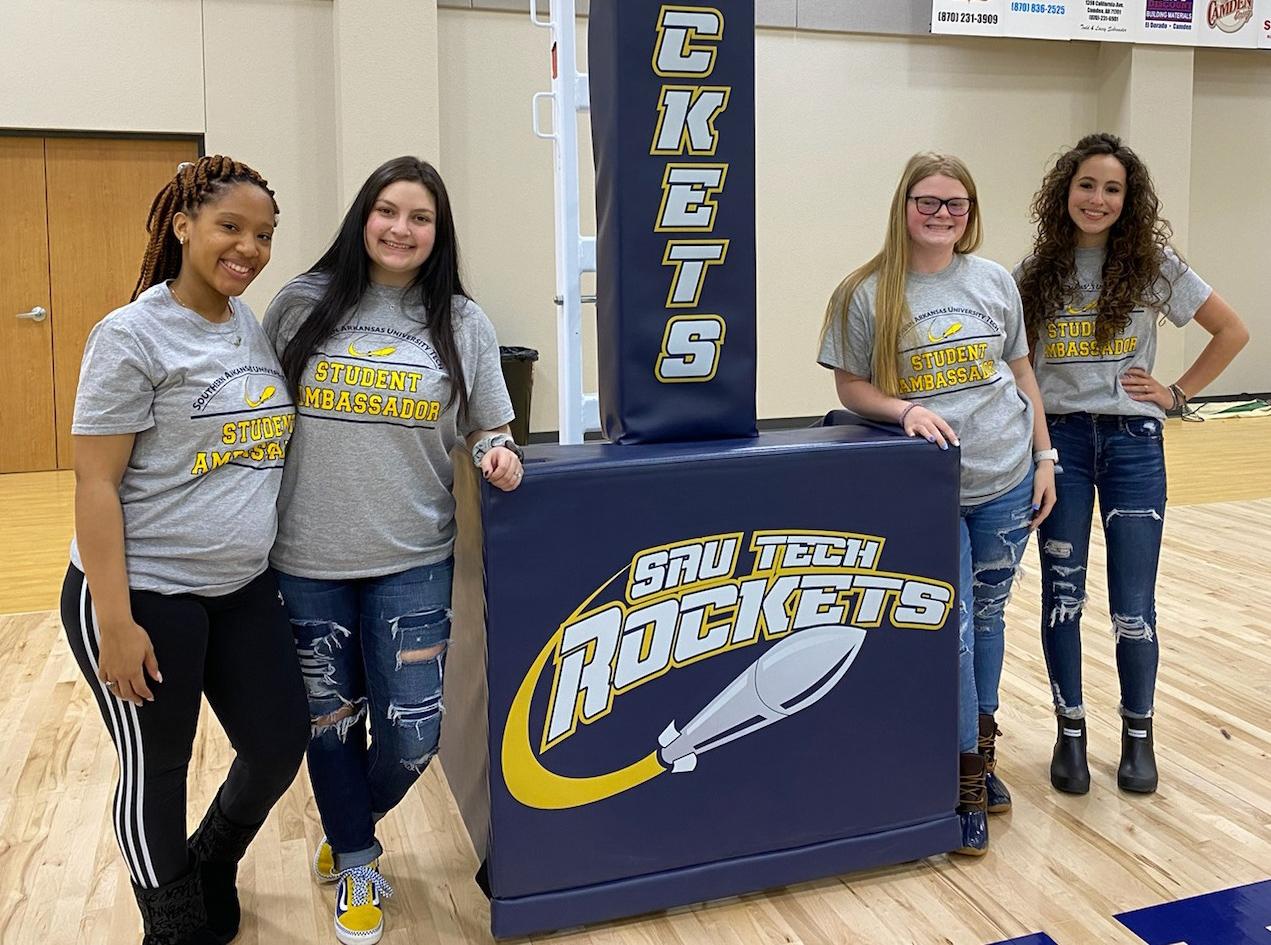 students wearing rocket t-shirts