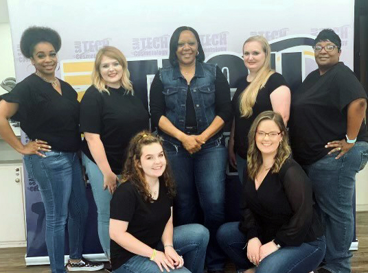 group of women in cosmetology