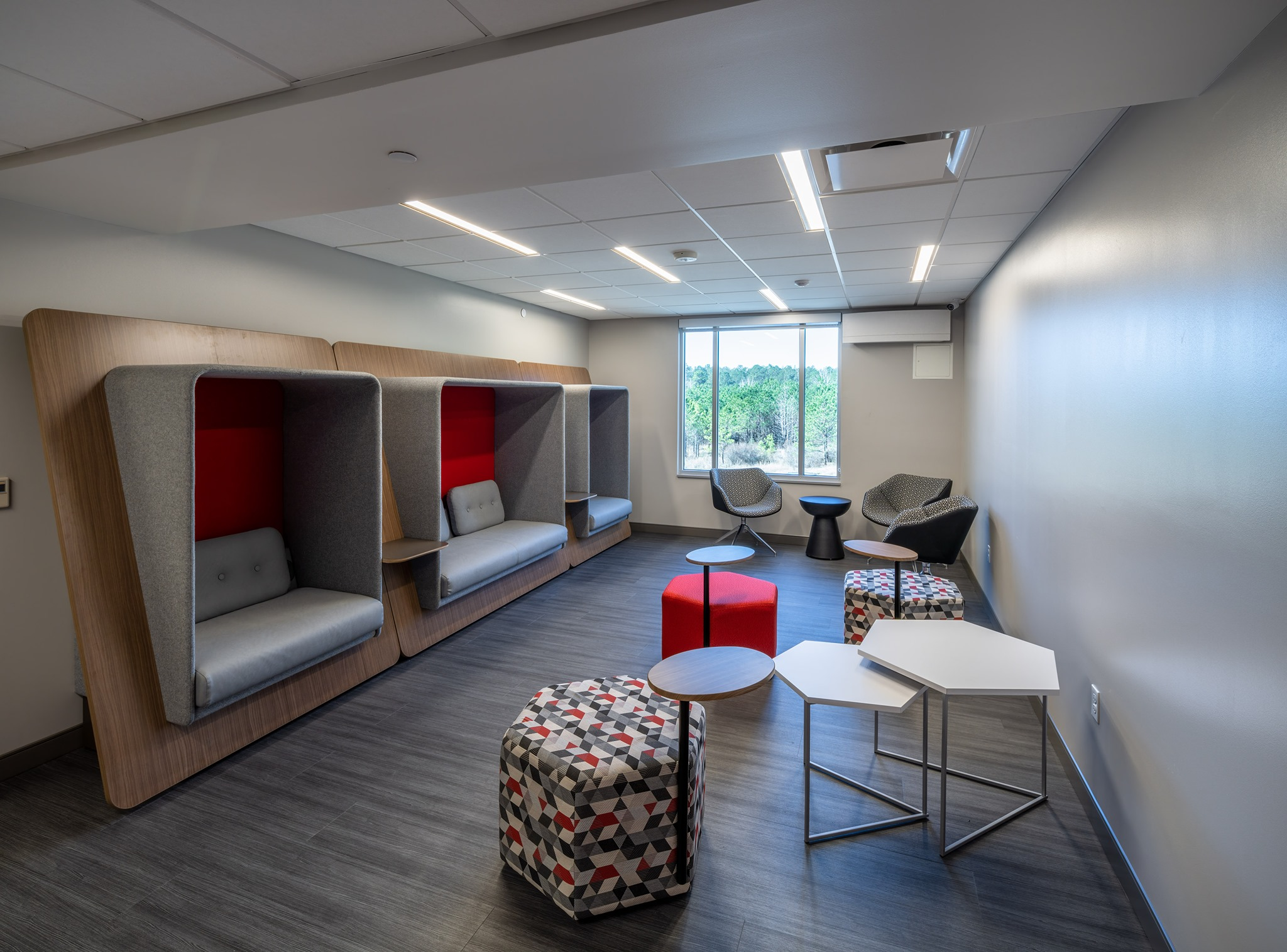 lounge area with modular seating