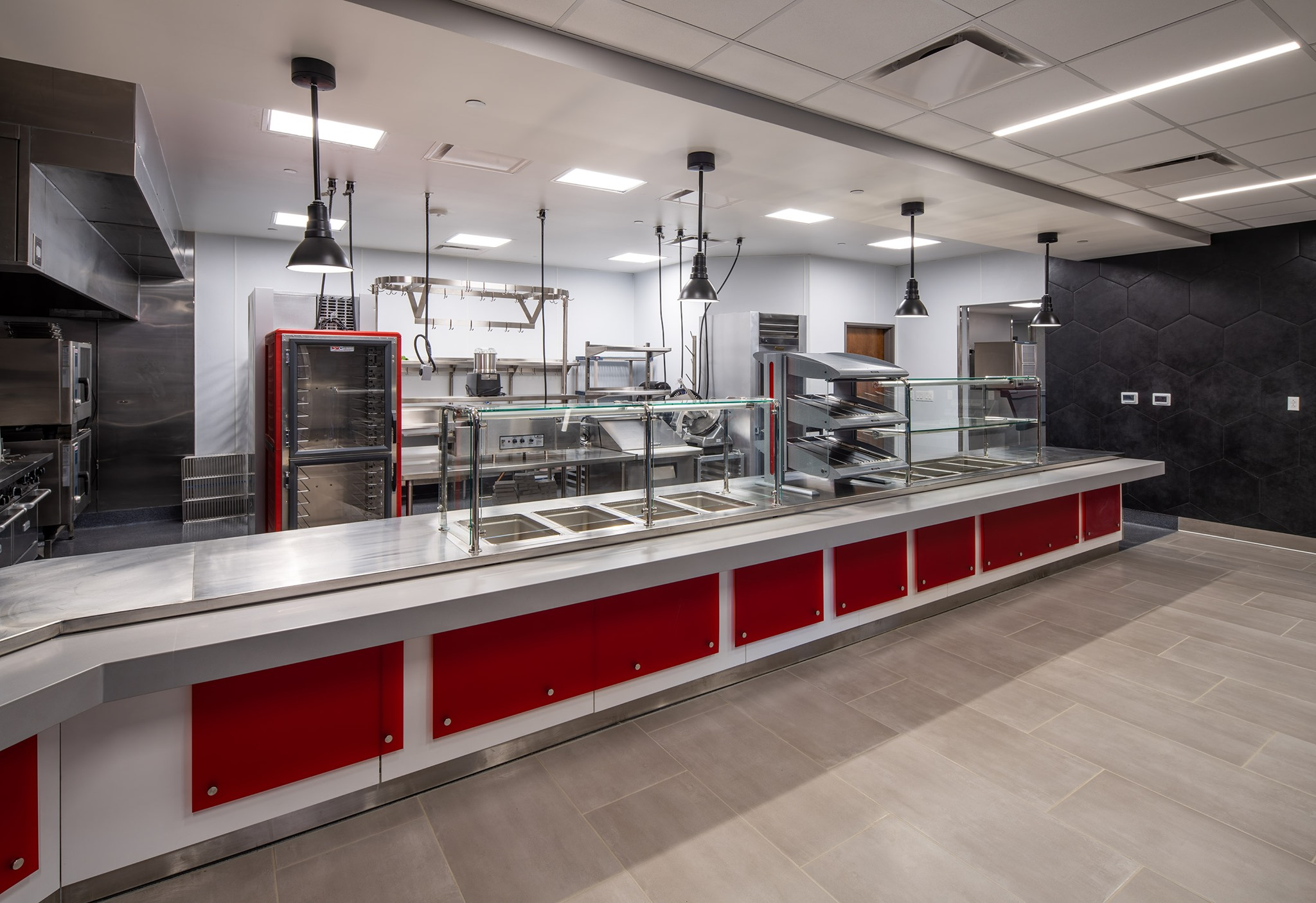 view of cafeteria from serving area